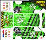 Green Biohazard Response themed vinyl SKIN Kit & Stickers To Fit Tamiya Lunchbox R/C Monster Truck